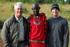Dan, Jackson and Adam, Africa 2009